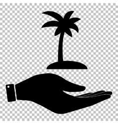 Coconut palm tree sign vector
