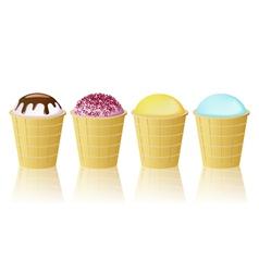 cones ice cream vector image vector image