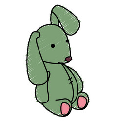 Cute teddy rabbit icon vector