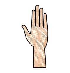 drawing human hand health care medical design vector image vector image