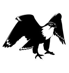 Falcon black and white vector