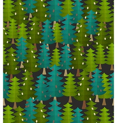 forest seamless pattern Fir forest Christmas vector image