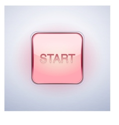 Glossy glass start button vector