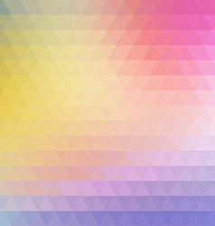 gradient blue color and triangle polygon pattern vector image
