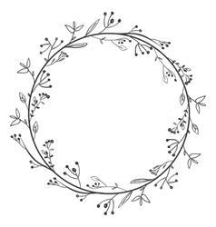 gray scale decorative simple crown floral vector image vector image
