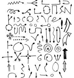 Hand drawn simple arrows vector