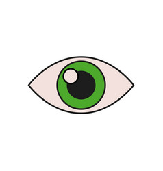 Human eye vision optical look design vector