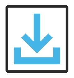 Inbox framed icon vector