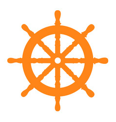 isolated ship wheel vector image vector image