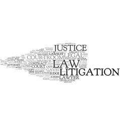 Litigation word cloud concept vector