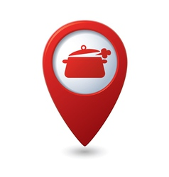 Map pointer with dining room icon vector image vector image