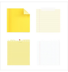 Ollection of note papers vector