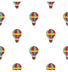 red and blue hot air striped balloon pattern vector image
