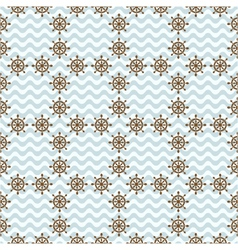 seamless sea pattern with hand wheels vector image
