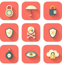 Set of App Security Icons vector image