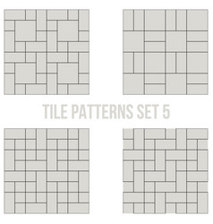 set of thin line seamless pattern brick tile vector image vector image