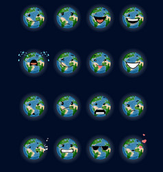 sixteen planet faces vector image
