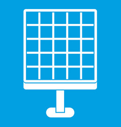 Solar panel icon white vector