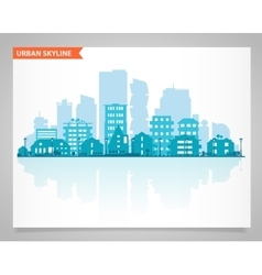 Various part cities skyline set vector