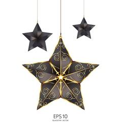 black star vector image
