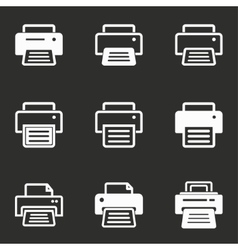 Printer icon set vector
