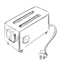 Retro old school toaster vector