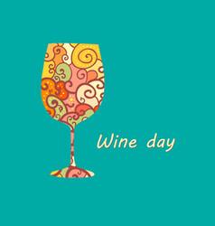 Wineglass poster vector
