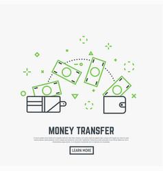 Money transfer concept vector