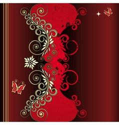 grunge vintage floral background vector image
