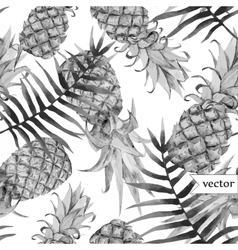 watercolor tropical pineapple exotic pattern vector image