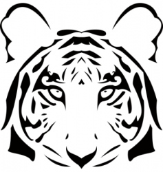 abstract tiger head vector