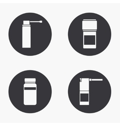 Modern medical kit icons set vector