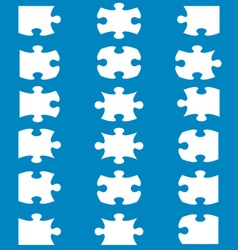 All possible shapes of jigsaw puzzle vector