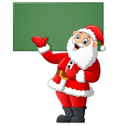 Santa presenting and blank sign vector