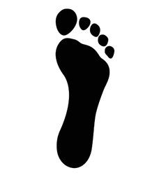 Black foot imprint smooth vector