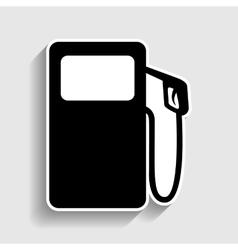 Gas pump sign vector