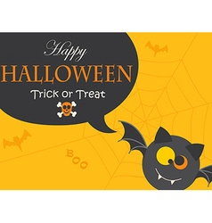 Banner for halloween party night vector