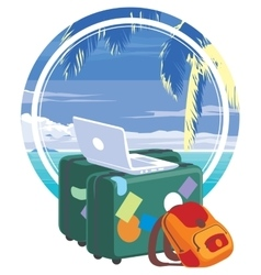 Vacation travelling concept vector