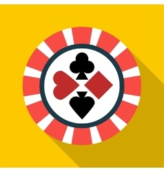Casino chip icon flat style vector