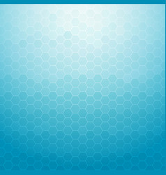 abstract technology geometric hexagon blue vector image vector image