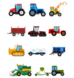 Agriculture industrial farm equipment harvest vector