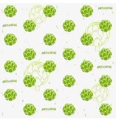 Artichoke background vector