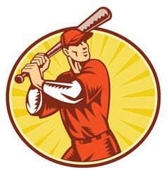 Baseball retro symbol vector