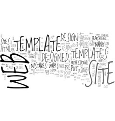 benefits of web site templates text word cloud vector image vector image