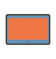Cartoon tablet device technology vector