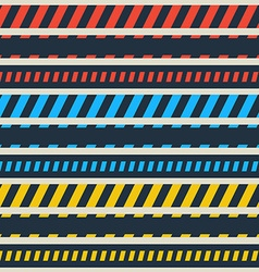 Caution line and danger tapes vector