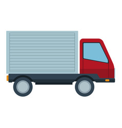 delivery truck van product goods shipping vector image