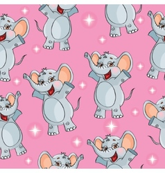 Elephant kids pattern wallpaper background in vector