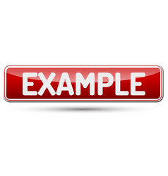 Example - abstract beautiful button with text vector