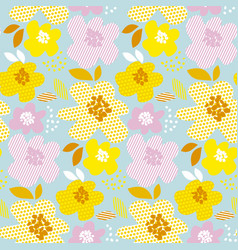 floral contemporary summer color seamless vector image vector image